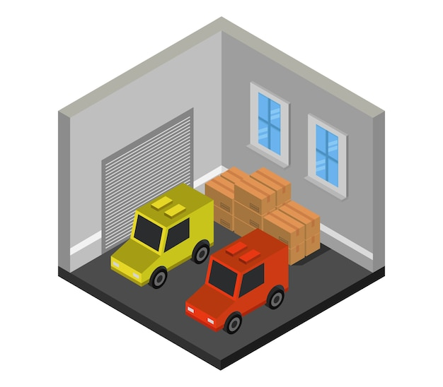 Isometric garage