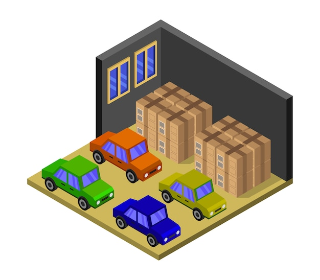 Изометрический гараж
