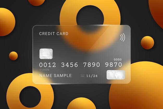 Carta di credito isometrica effetto vetro