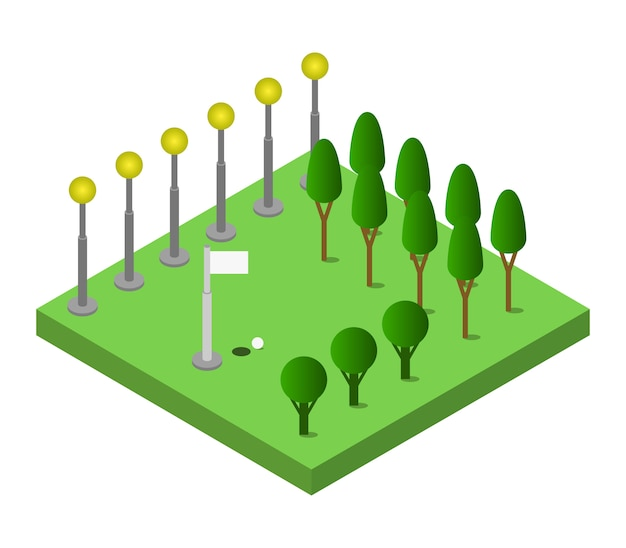 Golf isometrico