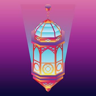아랍어 등불의 아이소 메트릭 그라디언트