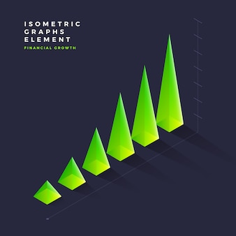 Isometric graph element