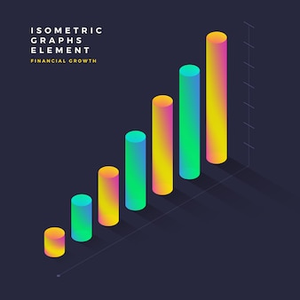 Isometric graphic element