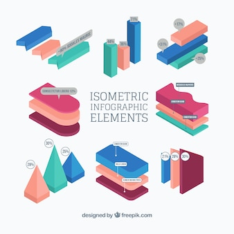 Isometric graphics for infographics