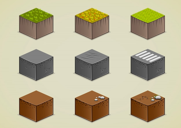 Isometric grounds collection