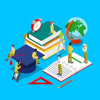 Isometric group of students studying