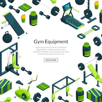 Isometric gym background