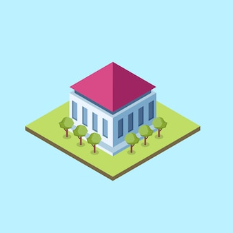 Isometric hall building
