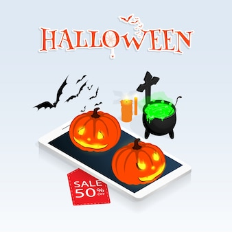 Isometric halloween online sale vector