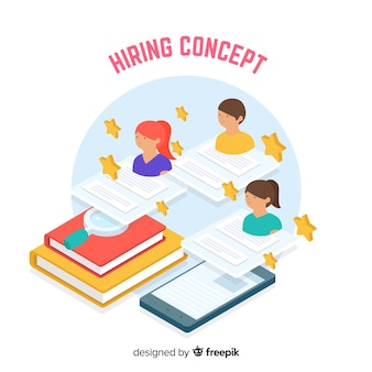 Isometric hiring background