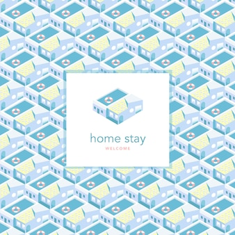 Isometric homestay background