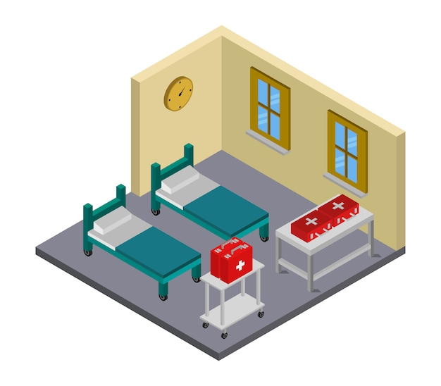 Изометрическая больничная палата