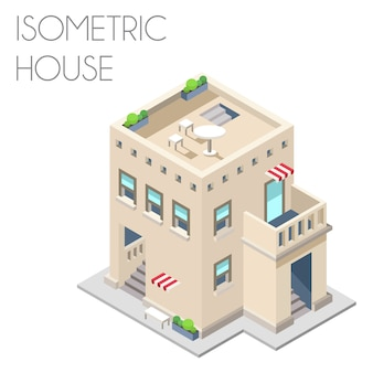 Isometric house background