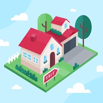 販売のための等尺性の家