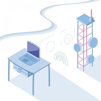 Isometric icon set technology