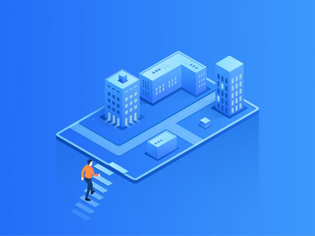 Isometric illustration city