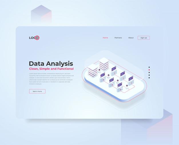 Isometric illustration data analysis