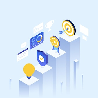 Isometric illustration for landing page