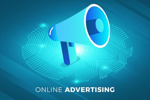 Технологическое решение концепции дизайна изометрических иллюстраций и цифровая реклама
