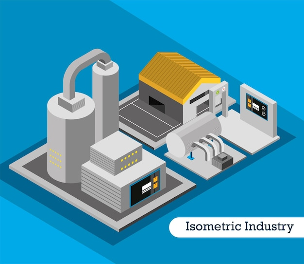 Isometric industry factory