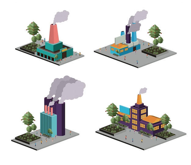 Isometric industry set