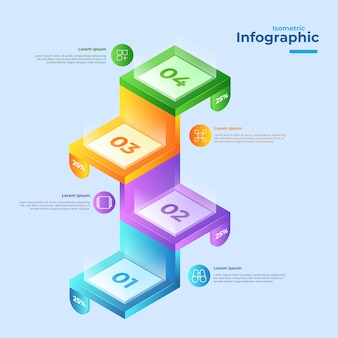 Isometric infographic collection design