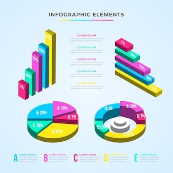 Изометрические инфографики дизайн коллекции
