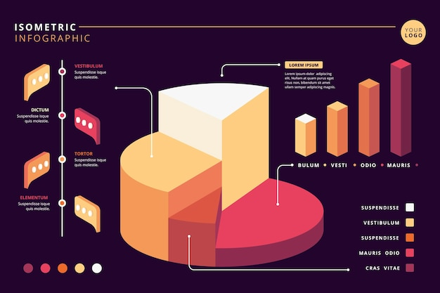Isometric infographic collection