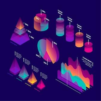 等尺性インフォグラフィックコレクション