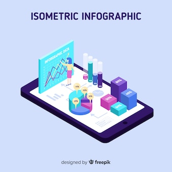 Isometric infographic concept background