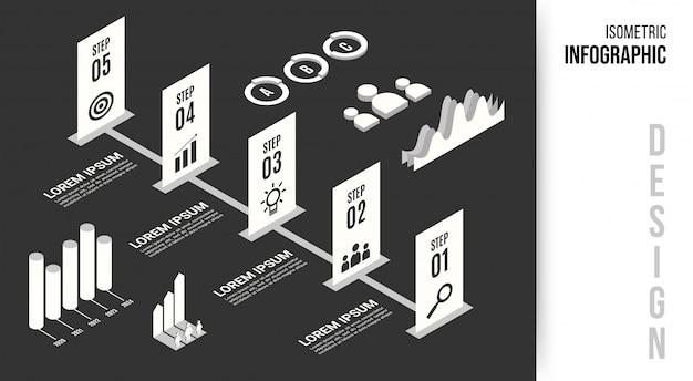 等尺性インフォグラフィックデザインコンセプト