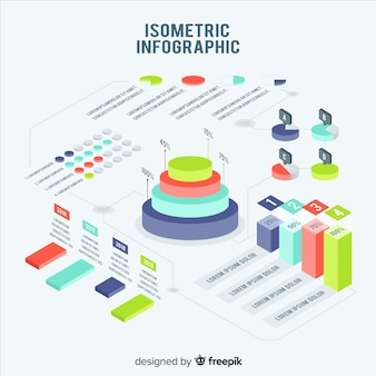 Isometric infographic element pack
