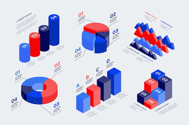 Isometric infographic pack