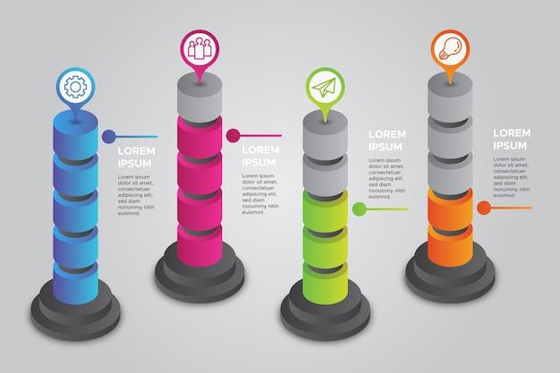 Isometric infographics concept