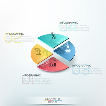 Isometric infographics options template