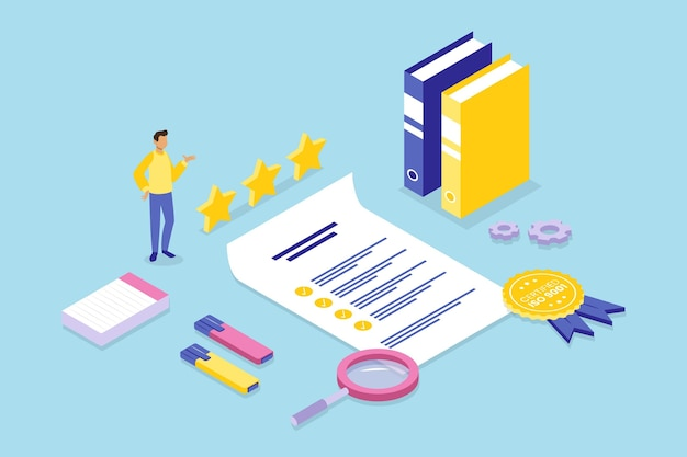 Isometric iso certification concept