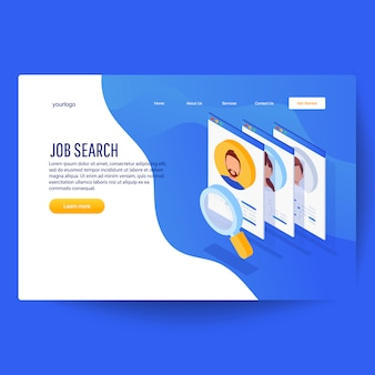 Isometric job recruitment