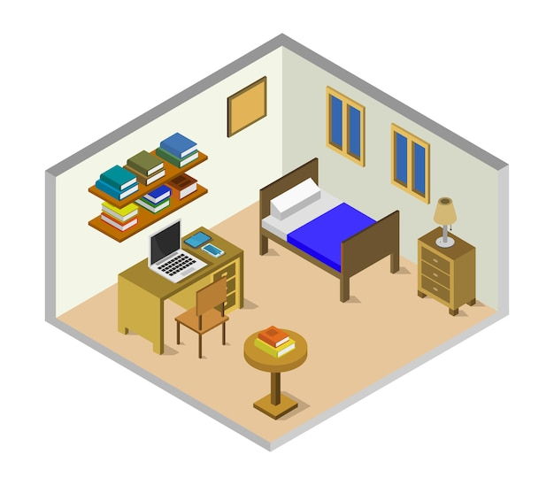 Camera dei bambini isometrica