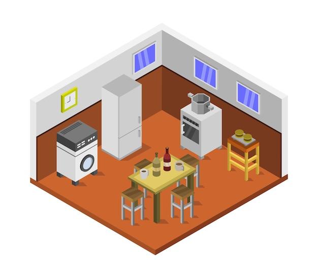 Изометрическая кухня