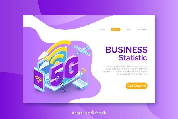 Isometric landing page for 5g
