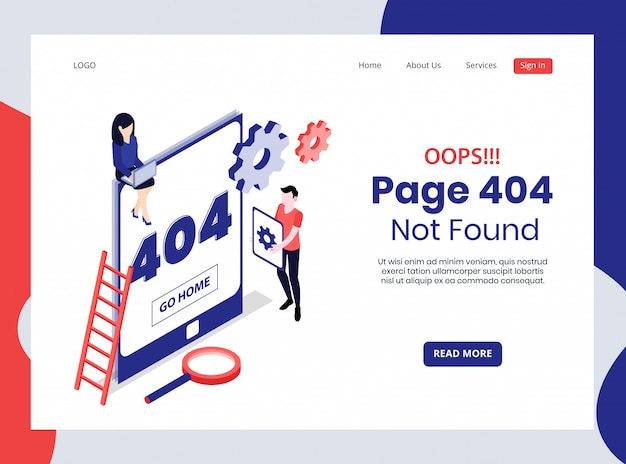 Isometric landing page not found