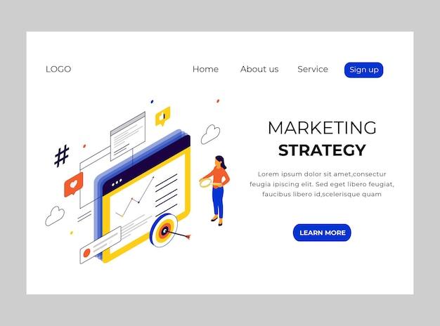 마케팅 전략의 아이소 메트릭 방문 페이지