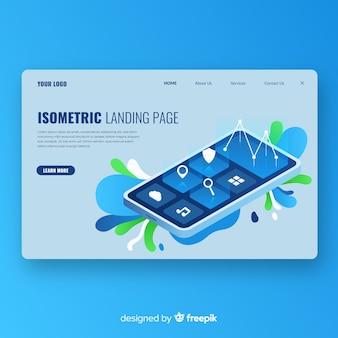 Isometric landing page