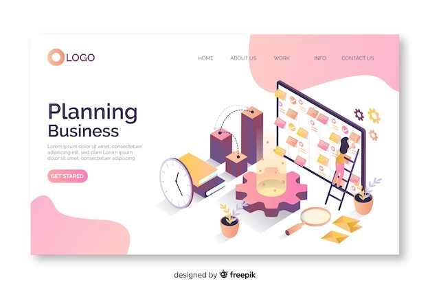 Isometric landing page