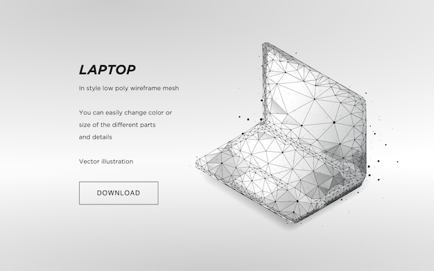 Isometric laptop on white