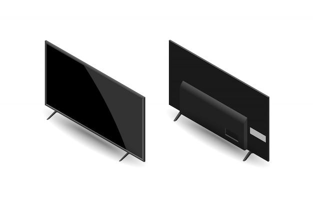 Isometric large flat screen tv.