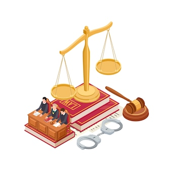 Isometric law and justice elements