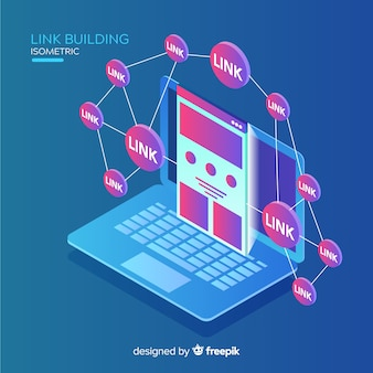 Isometric link building background