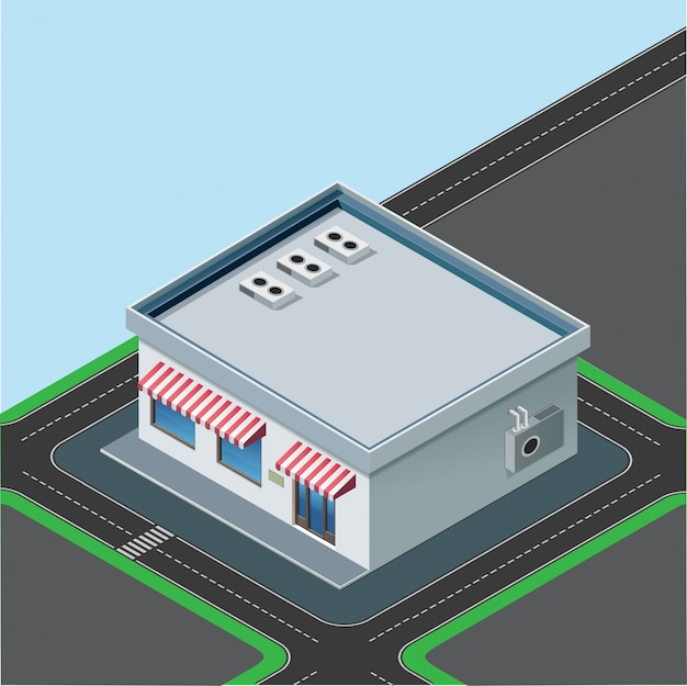 Isometric little shop