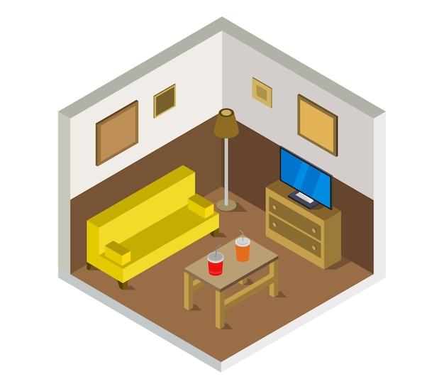 Изометрическая гостиная